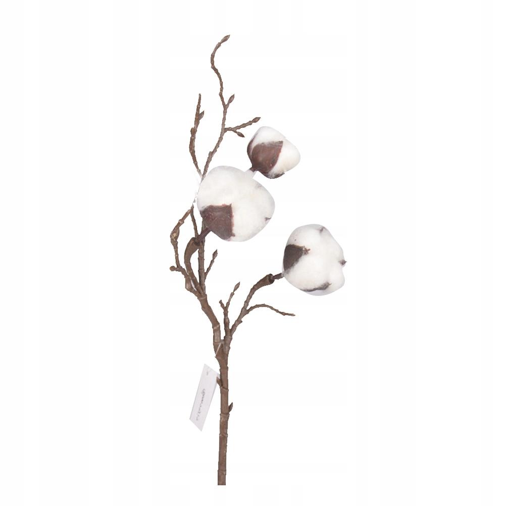 2 szt. Symulatywne suszone pędy bawełny W stylu wi