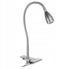 Lampa biurkowa EYS SILVER LED 45cm klips srebrna