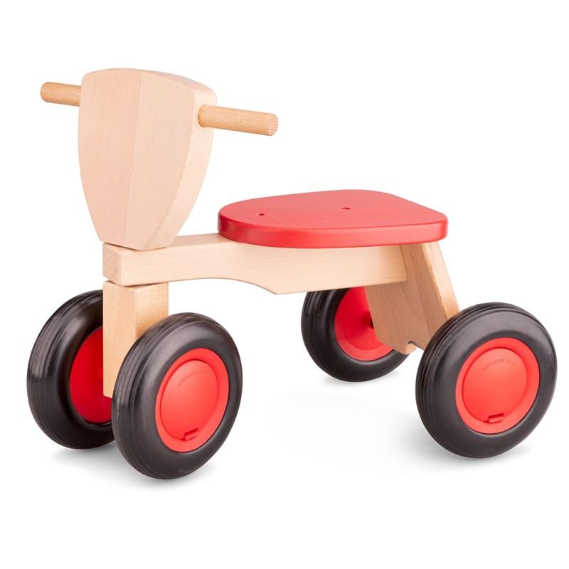 New Classic Toys Drewniany rower balance czerwony