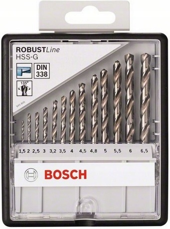 Set 13 wierteł do metalu HSS-G Robust Line BOSCH