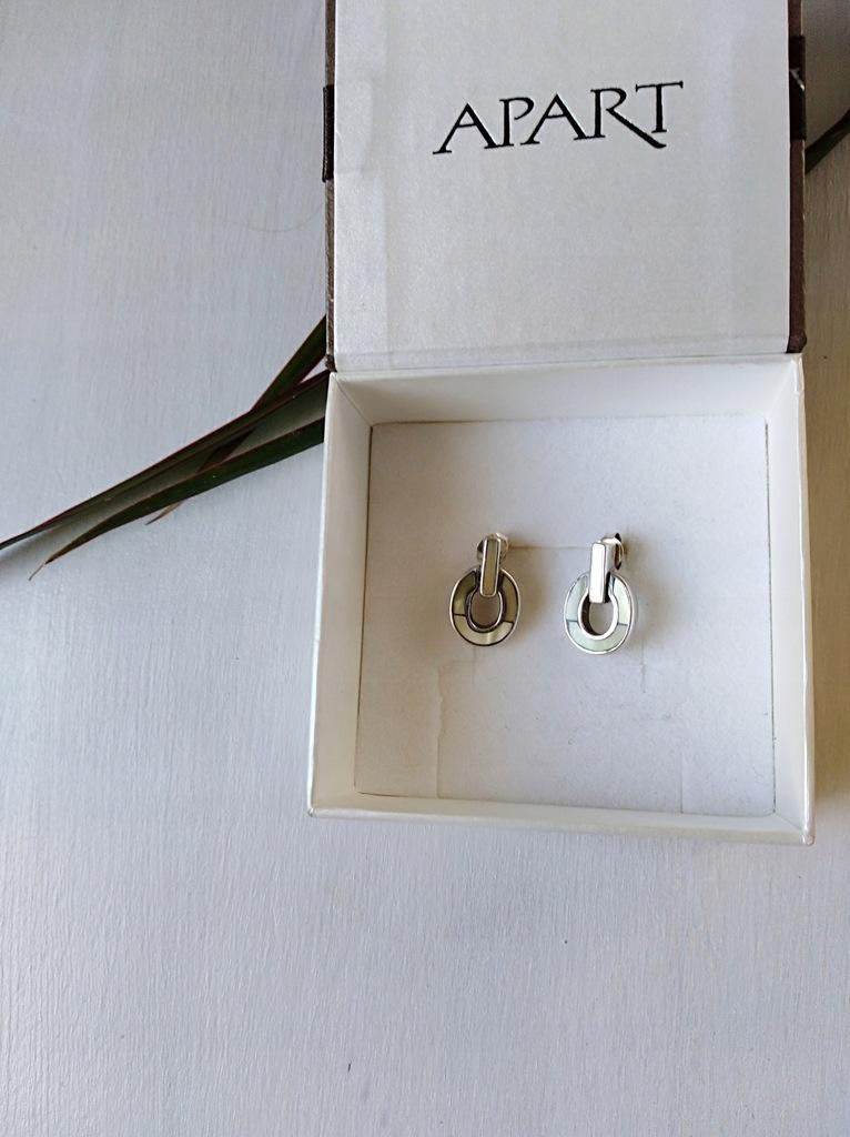 Kolczyki srebrne z masą perłową firmy Apart