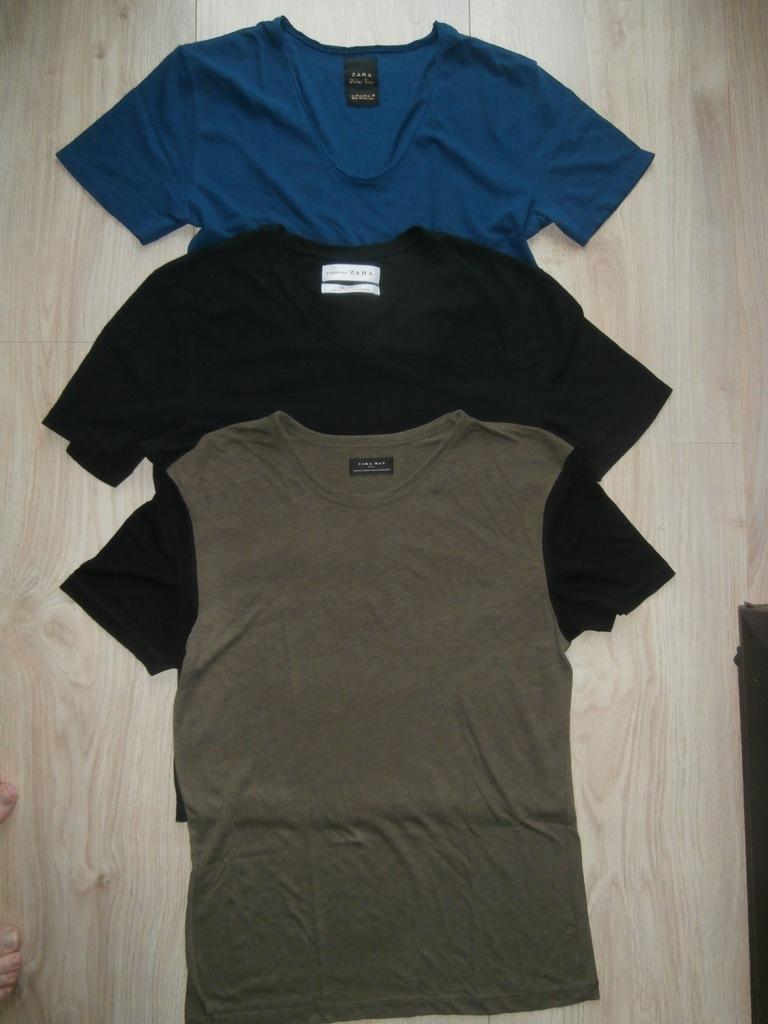 mini paka *ZARA* trzy t-shirty na lato - ROZM. M/L