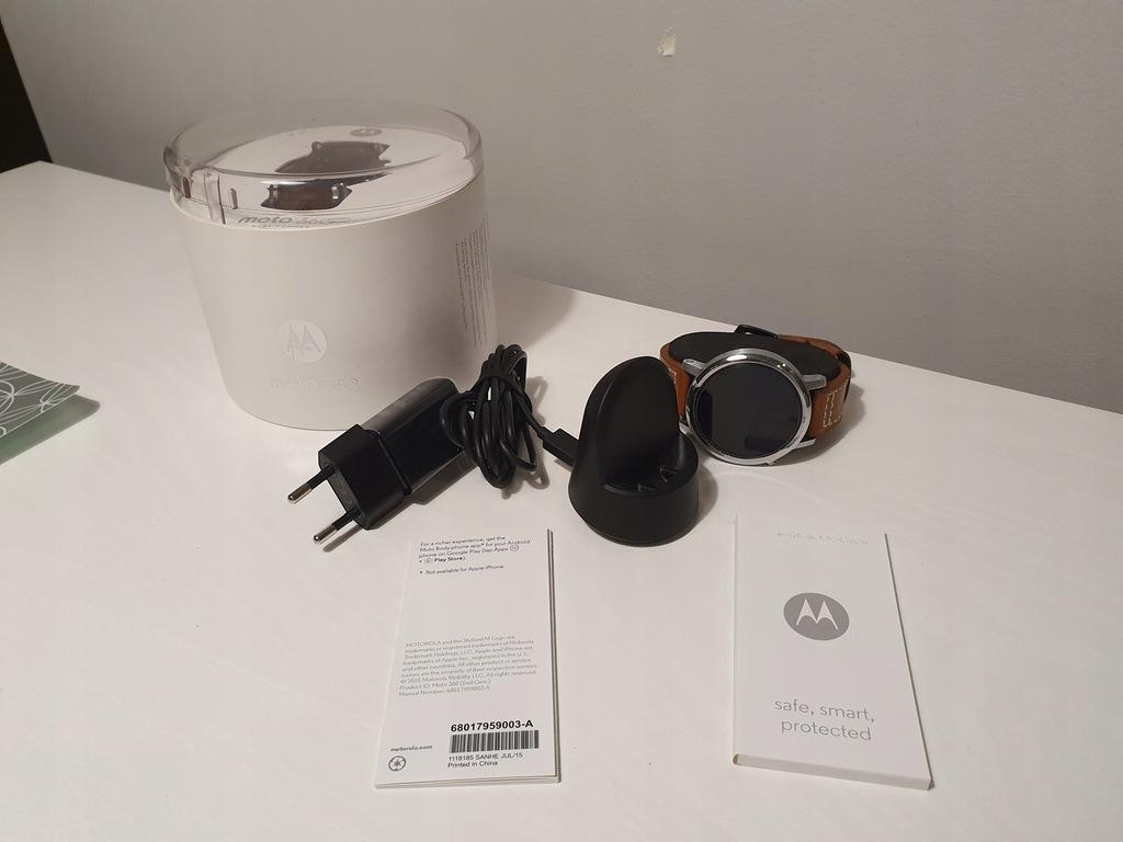 Smartwatch Moto 360 2 Gen 46 mm zestaw skóra BT