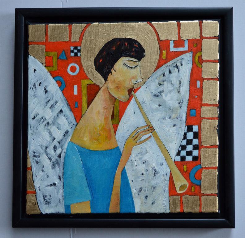 Anioł grający Orkiestrze - obraz Mirosława Hajnosa