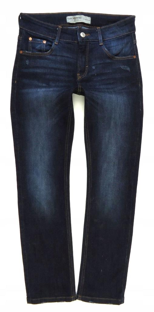 CLOCKHOUSE spodnie jeansy proste przetarcia 36/38