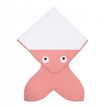 Baby bites ręcznik z kapturkiem 75 x 75 cm pink
