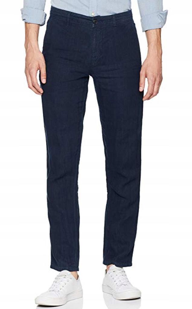 HUGO BOSS ORANGE spodnie r. 54 Len