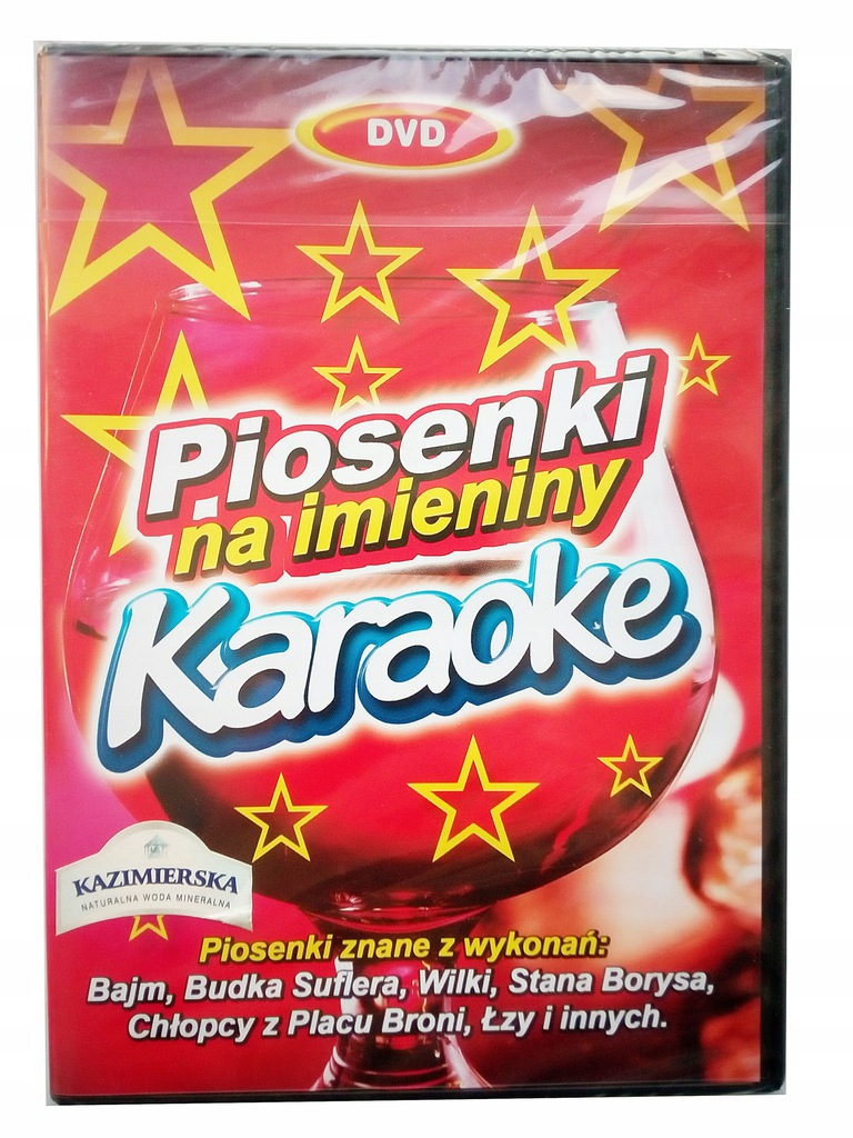Karaoke DVD - piosenki na imieniny