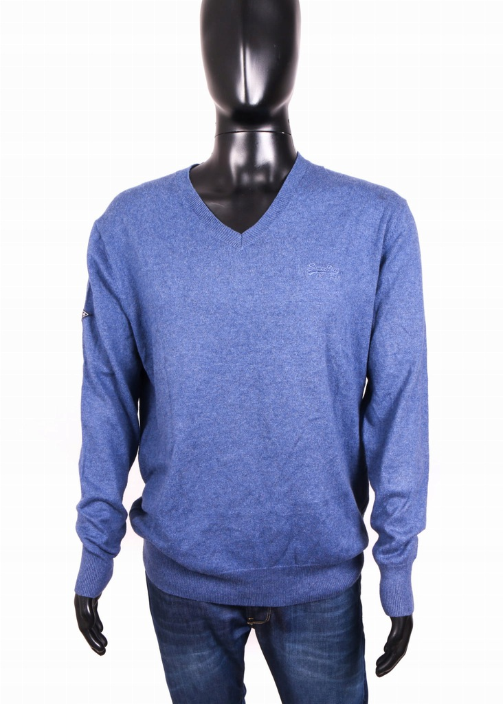 *Superdry Vintage Sweter Męski Bawełna Granat 2XL