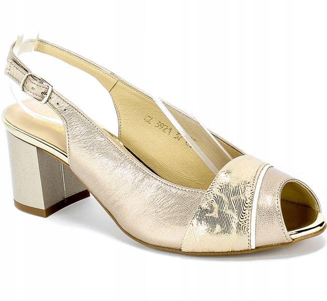 Sandały Gamis 3921 S9+A64 Złoty Skóra