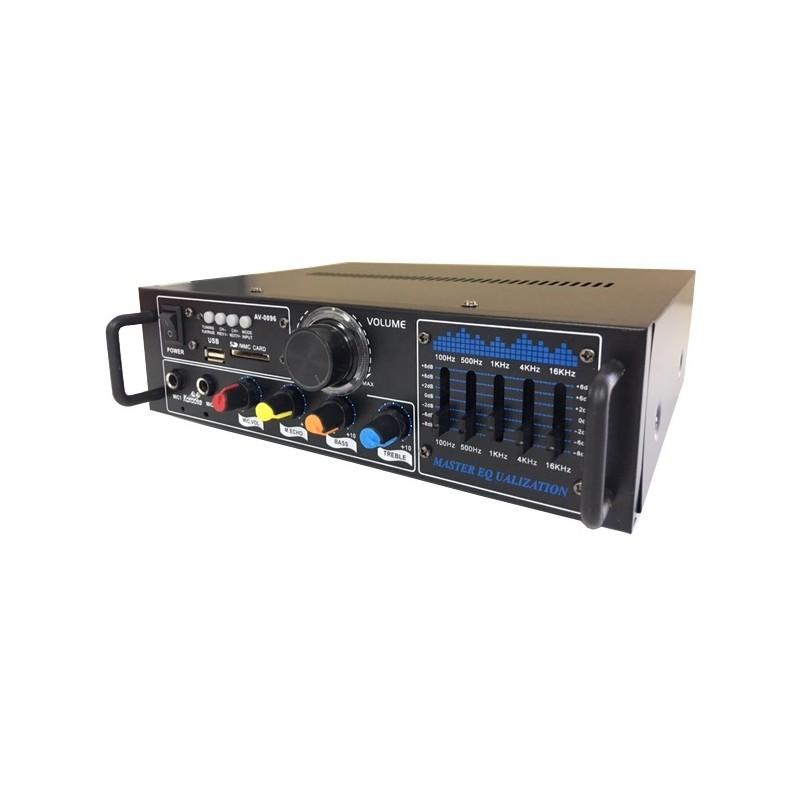 WZMACNIACZ DO KARAOKE 2x30W USB SD RADIO FM [F718