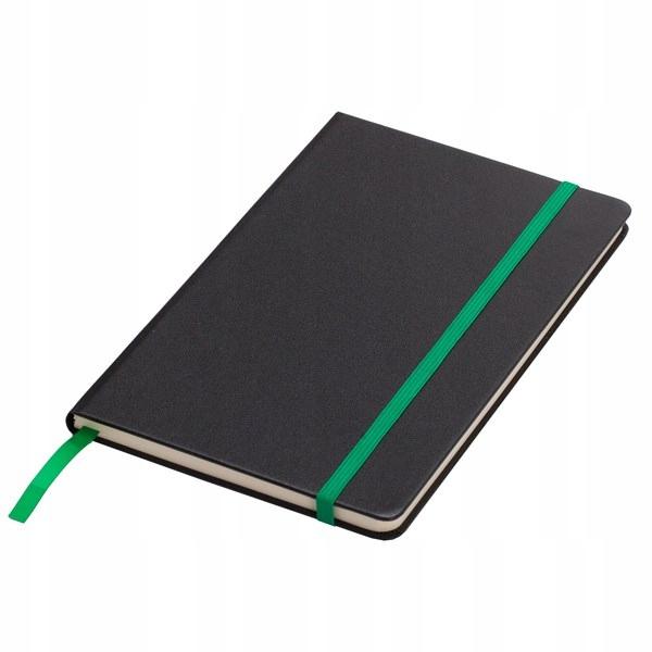 Notatnik 130x210/80k kratka Sevilla, zielony/czarn