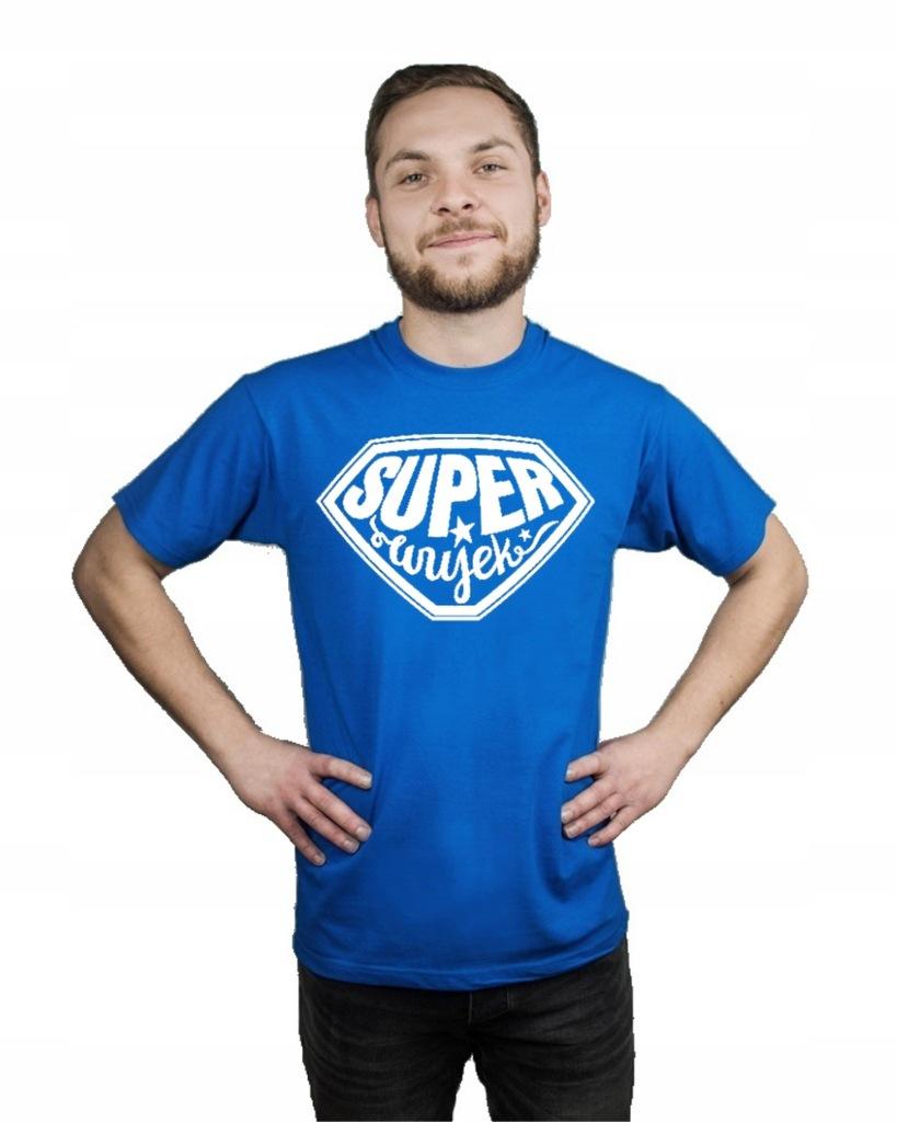 Koszulka męska SUPER WUJEK PREZENT L