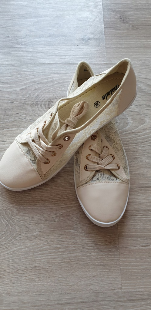 Trampki tenisówki buty sportowe damskie 38 ecru