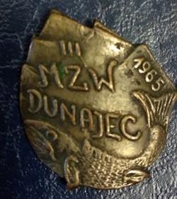 Odznaka wędkarska PZW 3 MZW Dunajec 1965