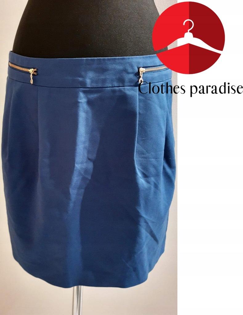 RESERVED_ śliczna niebieska spódnica 42