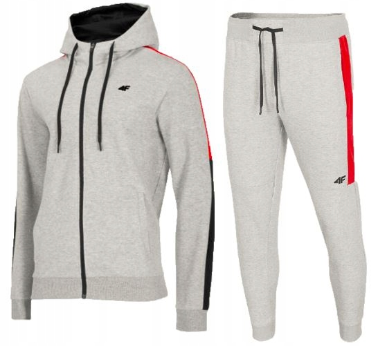 Zestaw męski sportowy 4F bluza spodnie dresowe M