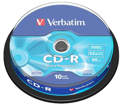 VERBATIM PŁYTY CD-R 700MB 52x Cakebox 10 szt.