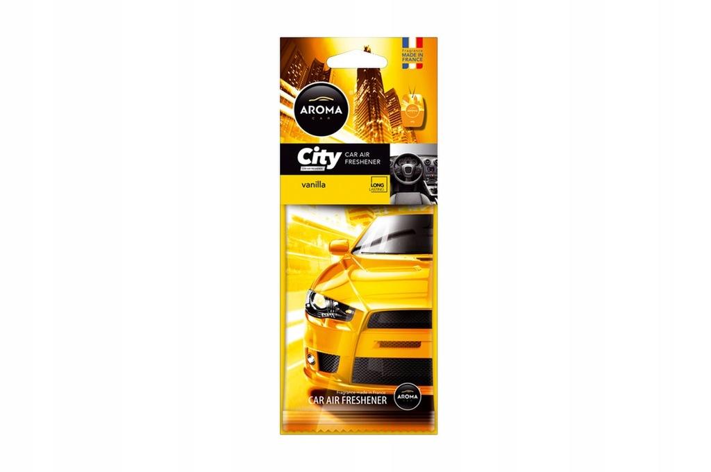 Odświeżacz powietrza AROMA CAR CITY CARD VANILIA
