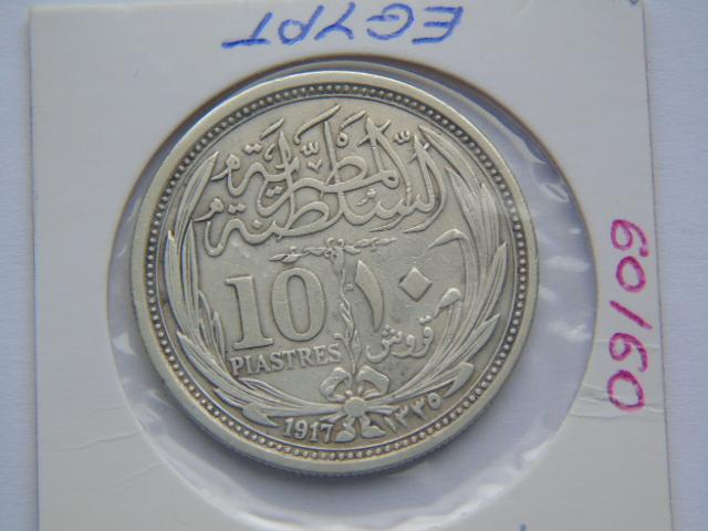 Egipt 10 piastrów 1917 KM 319 stan II