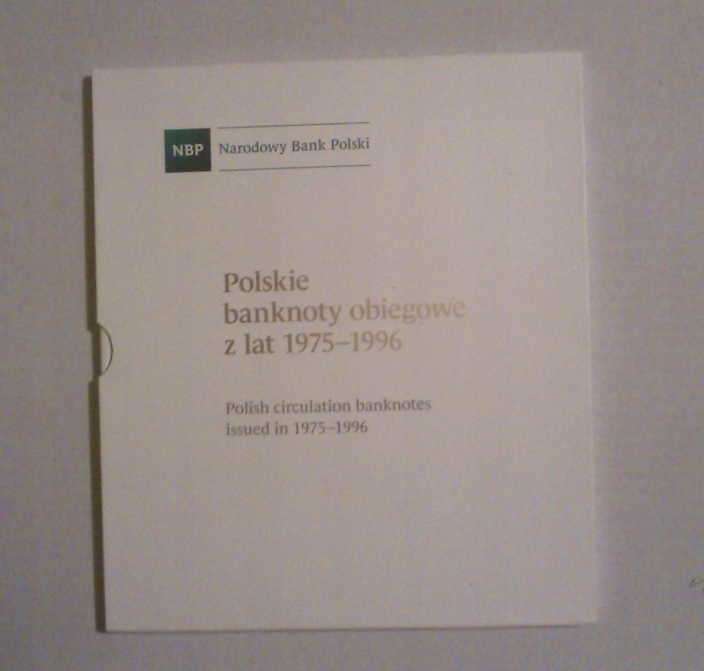 ALBUM na POLSKIE BANKNOTY OBIEGOWE 1975-1996