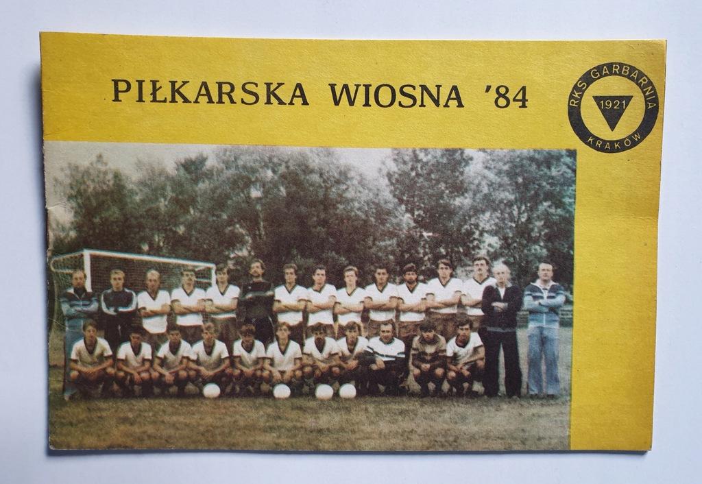 PROGRAM GARBARNIA KRAKÓW SEZON WIOSNA 1984