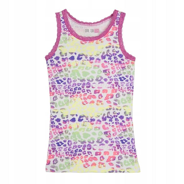 COOL CLUB SMYK koszulka bluzeczka TĘCZA cętki 104