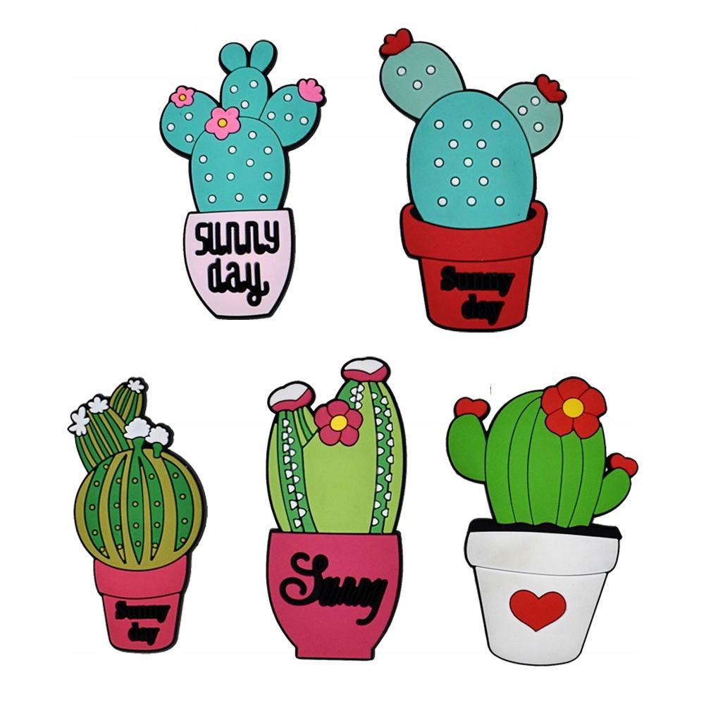 10 szt. Kształt kaktusa Naklejki na dodatkowe Kret