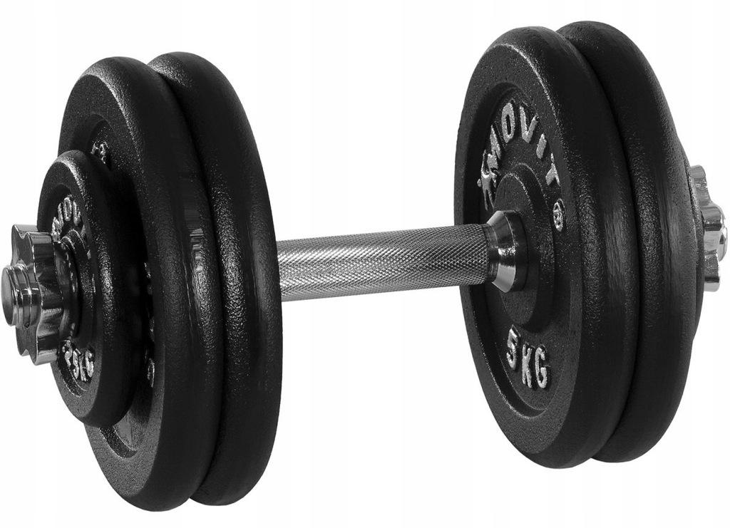 Czarna hantla 25 kg MOVIT