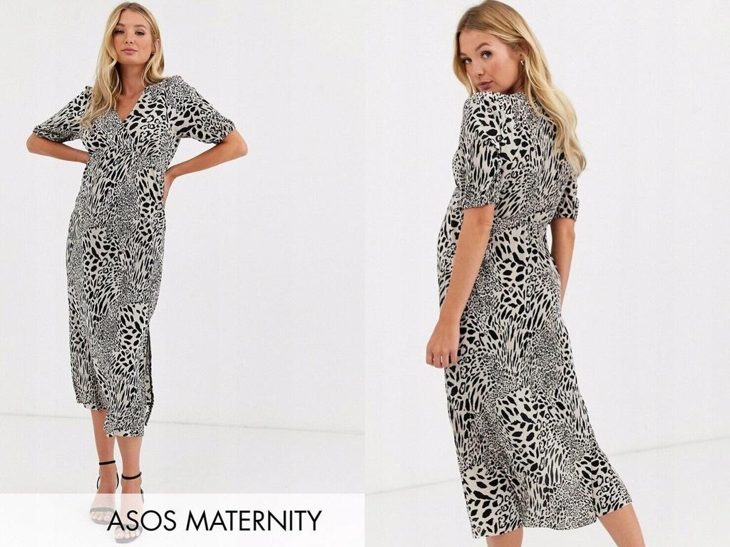 DESIGN Maternity Plisowana sukienka midi L/40