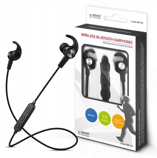Sportowe Bezprzewodowe słuchawki BT z Mikrofonem