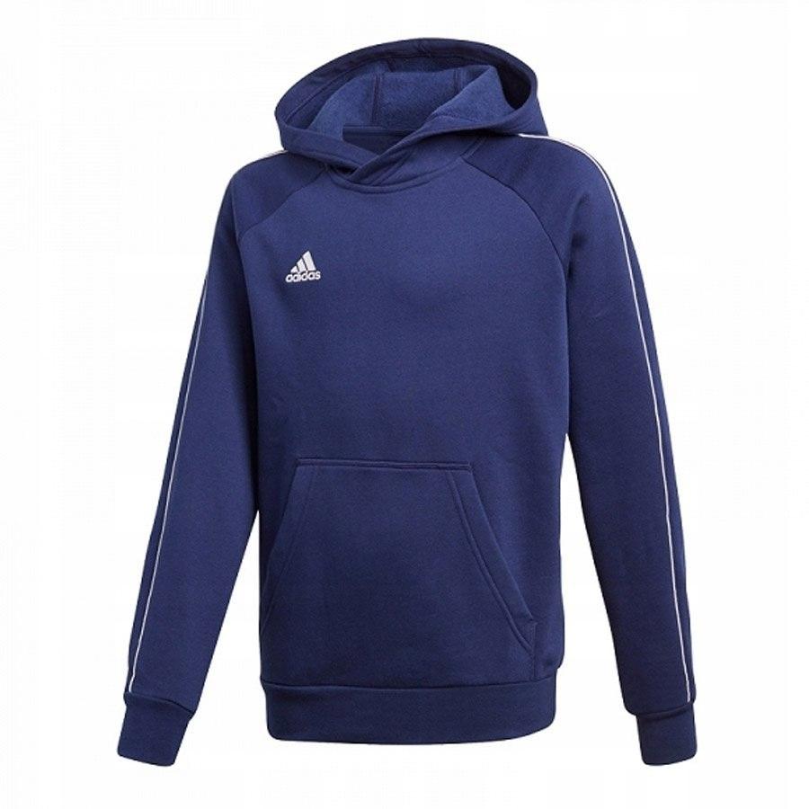 Bluza adidas Core 18 Hoody CV3430 140 cm niebieski