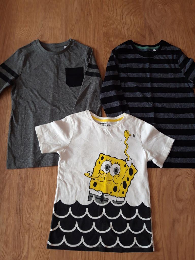 Zestaw T-shirt 2 bluzki i spodnie 134/40 C&A