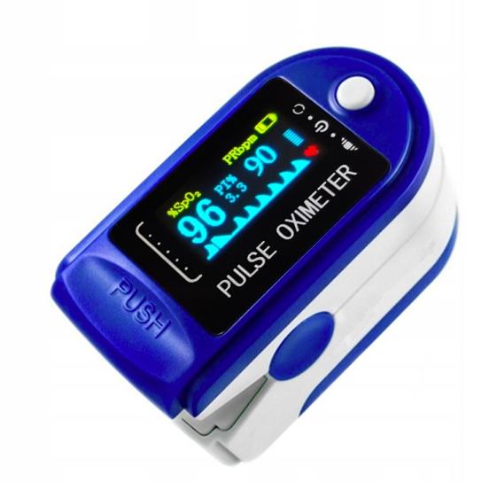 Pulsoksymetr napalcowy medyczny pulsometr baterie