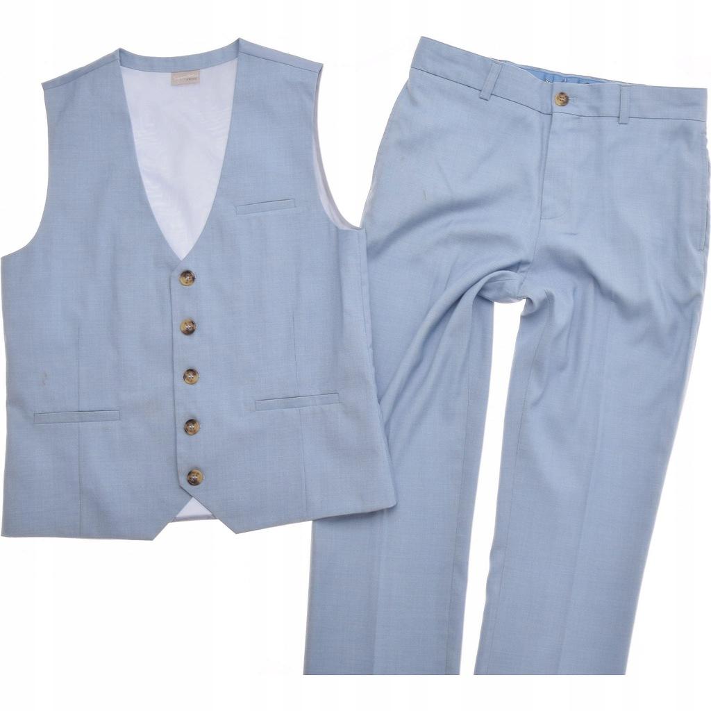 NEXT komplet ELEGANCKI kamizelka spodnie 164