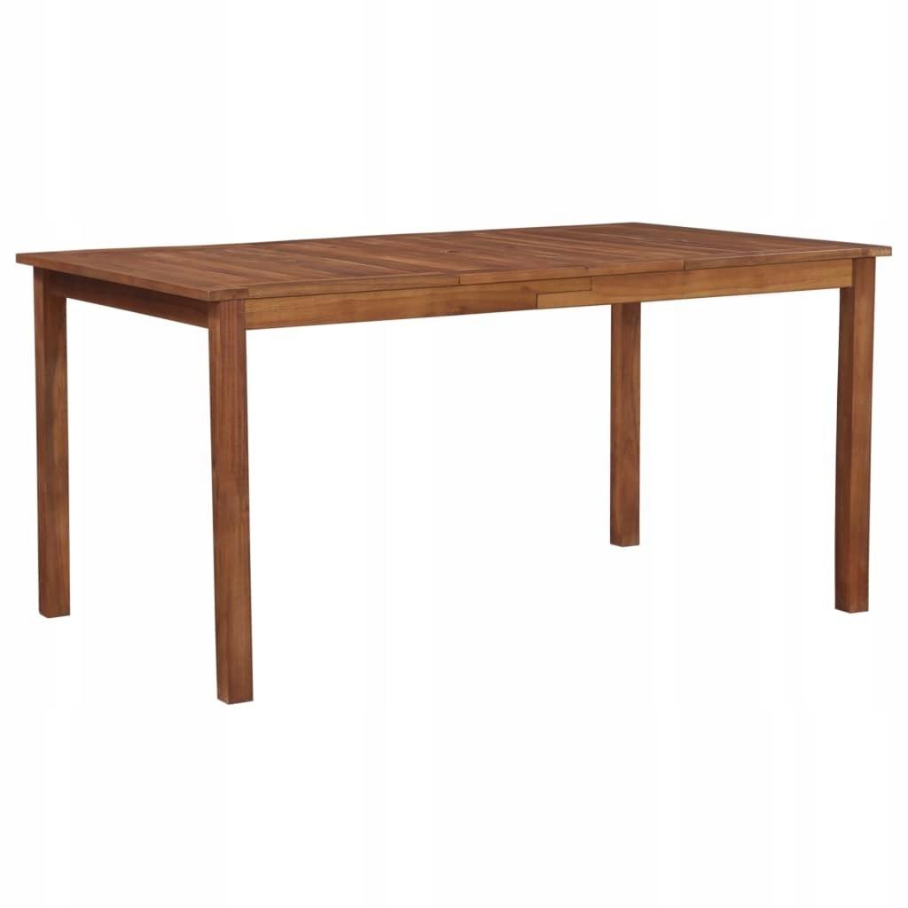 Ogrodowy stół jadalniany, lite drewno akacjowe, 15
