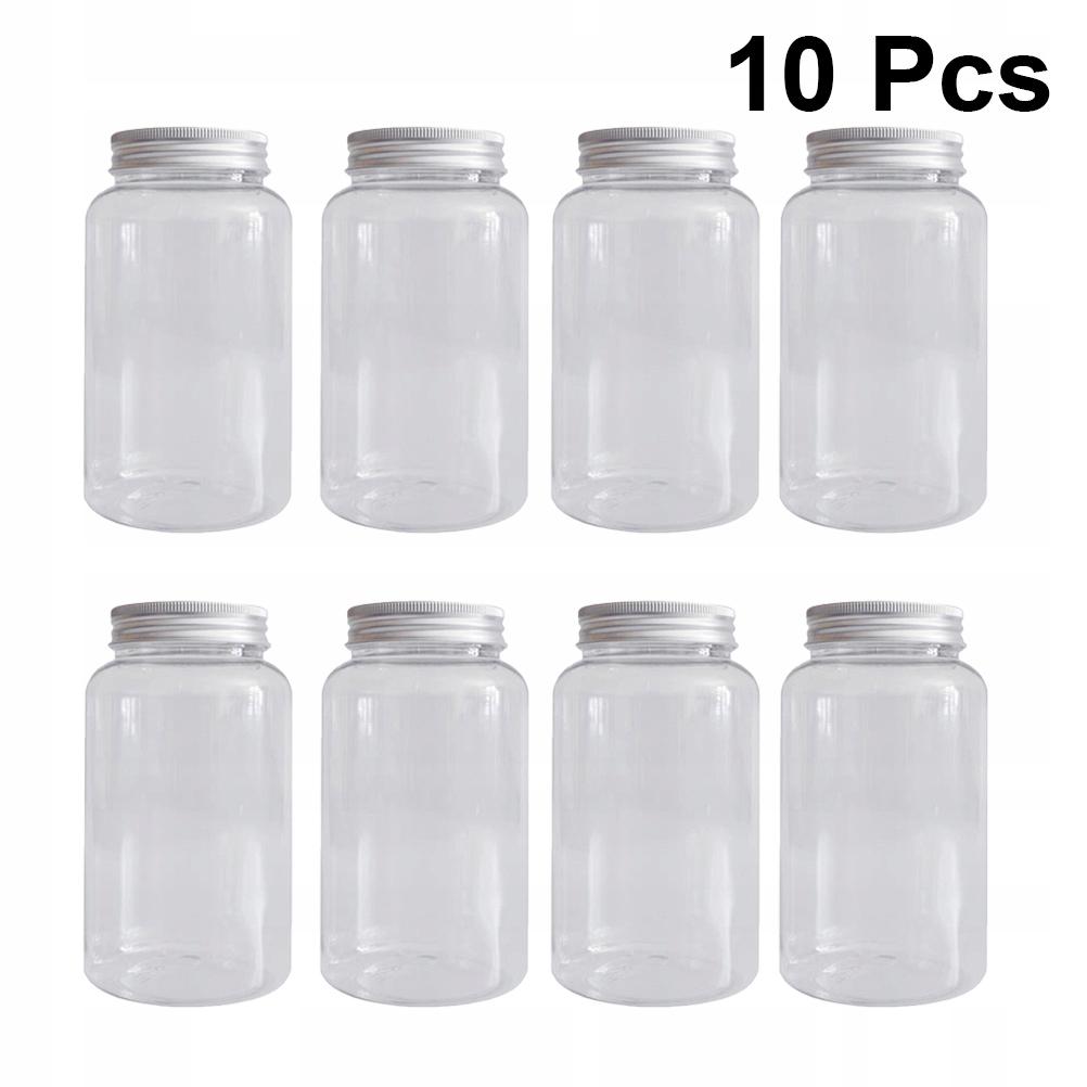 10pcs Food-grade Plastic Bottles Thicken Plastic B