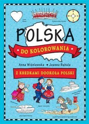 Wiśniewska Polska do kolorowania Z kredkami