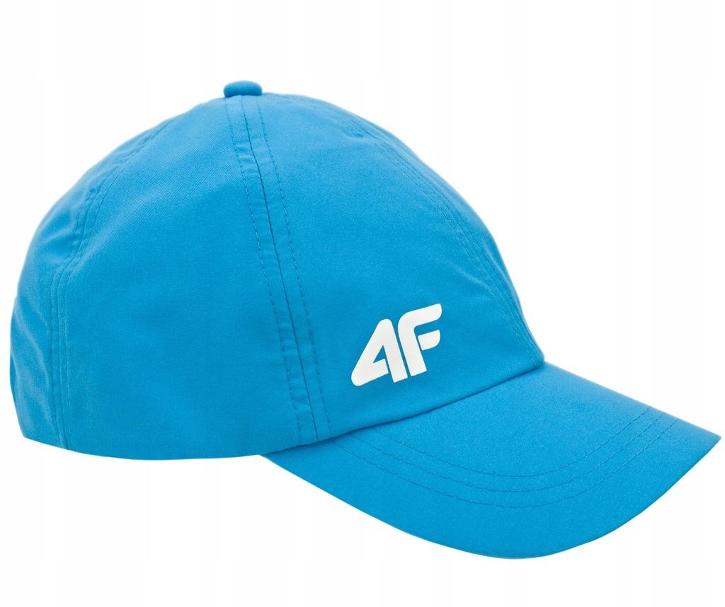 4F Czapka z daszkiem Chłopięca Niebieska Odblask