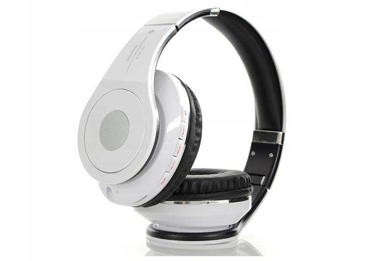 Słuchawki Bluetooth 4.2, czytnik kart micro SD, radio FM