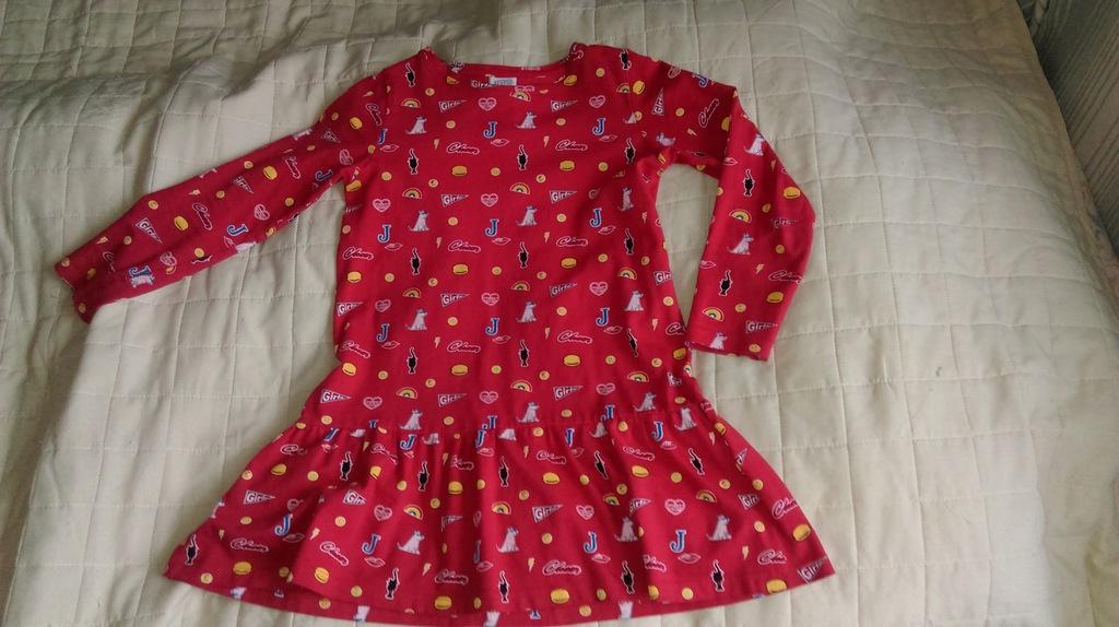 Sukienka kolorowa116 kotki pieski