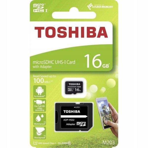 Karta pamięci microSDHC 16GB Toshiba 10C 100MB/s