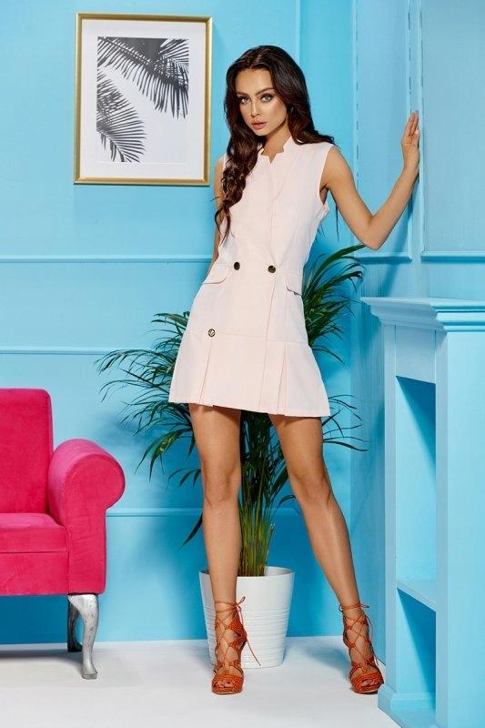Sukienka L305 Powder różowy - Lemoniade