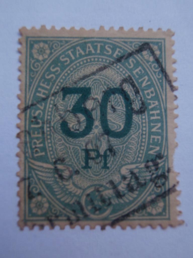 Niemcy - Prusy - opłata kolejowa - 30 Pf - 1897