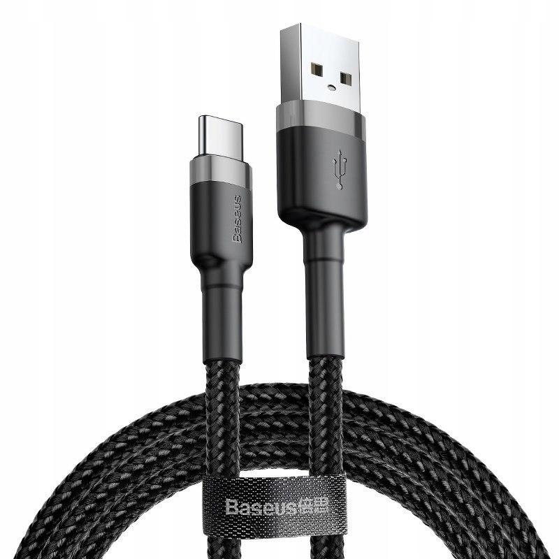 Kabel USB-C Baseus Cafule 2A 2m (szaro-czarny) Bas