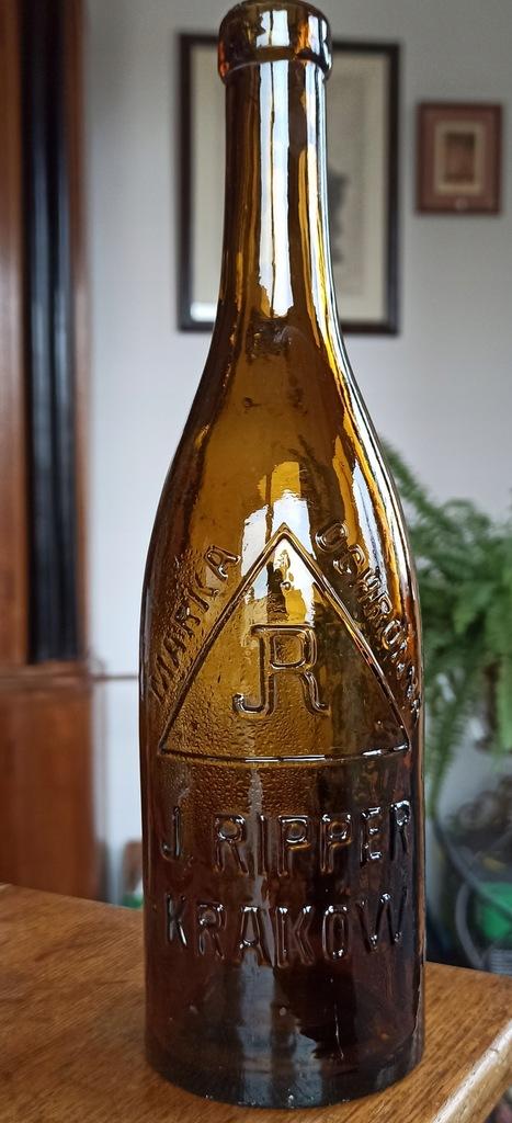 Butelka J. Ripper skład piwa Kraków Okocim