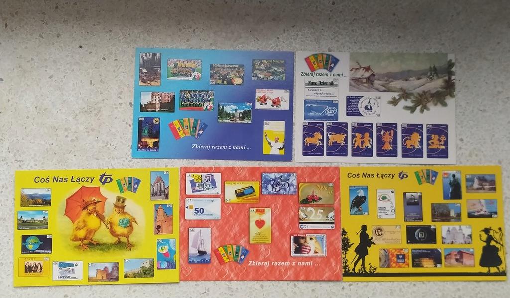 pocztówki z motywem kart telefonicznych