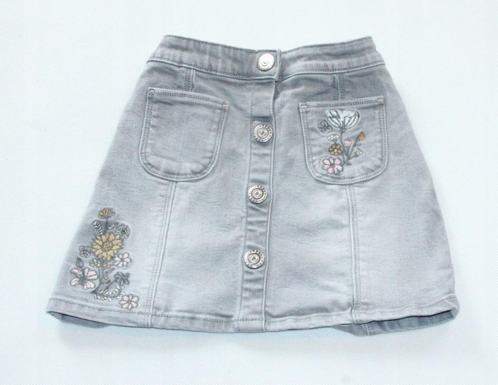 Spódniczka Nutmeg jeans kwiaty hafty r. 104 3-4l