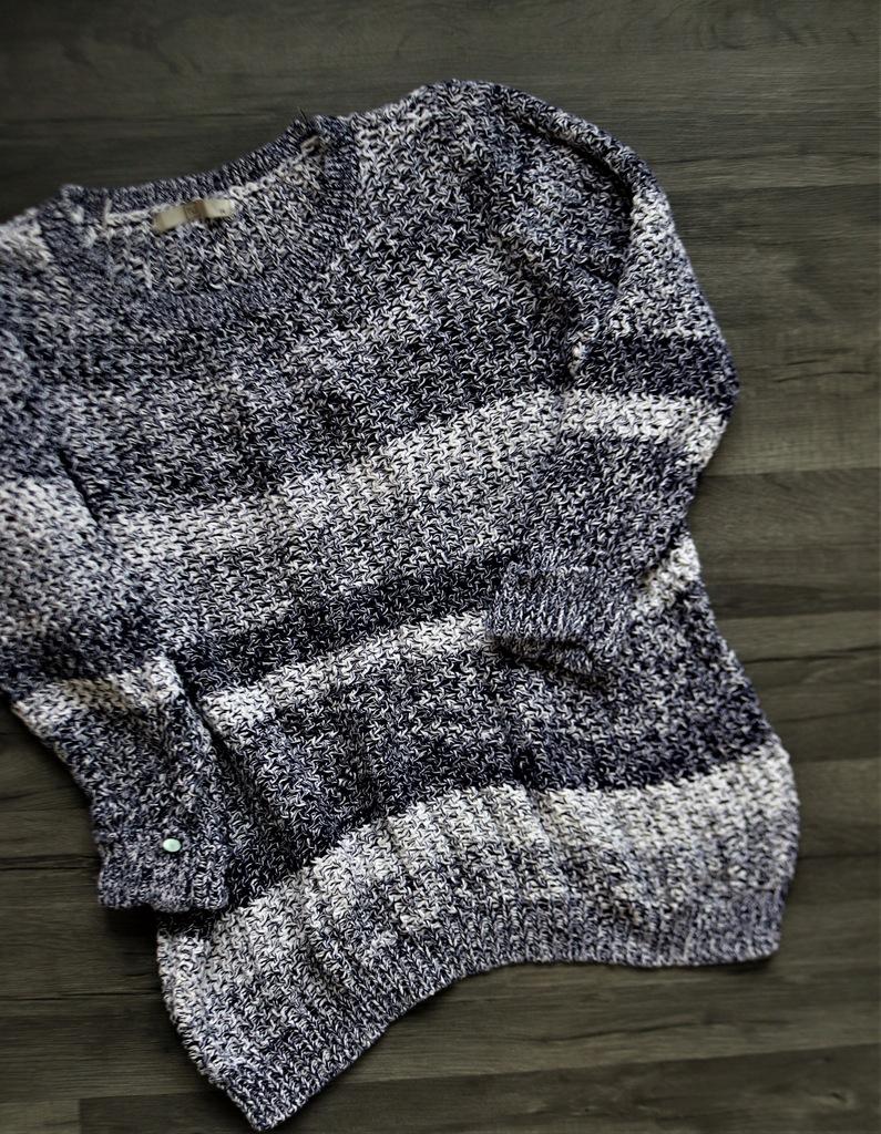 TU kolorowy ażurowy sweter XL bawełniany