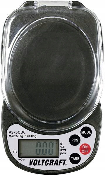 Waga kieszonkowa jubilerska VOLTCRAFT PS-500C 500g